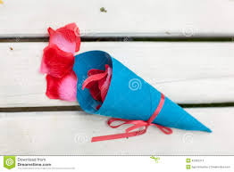 Paper Cones For Flower Petals Rose Petals With Paper Cone Stock Photo Image Of Done Flower