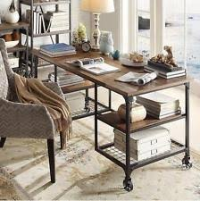 rustic desk home office. Rustic Industrial Desk Wood Metal Farmhouse Modern Home Office Workstation Rustic Desk Home Office U