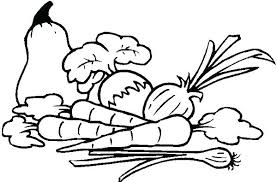 Coloring Pages Vegetables Fruits And Vegetables Coloring Pages Print