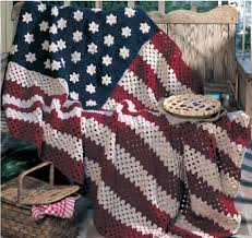 American Flag Crochet Pattern Adorable American Pride Crocheted Flagfree Pattern By Red Heart Yarns