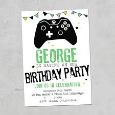 invitation wording for children s party inspirationa xbox gaming personalised party invites birthday invitations x10