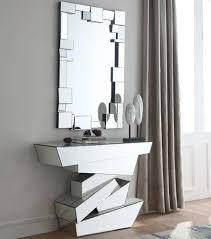 modern geometrical style mirror console