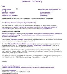 Sample Letter To Insurance Company For Reimbursement Appeals Reimbursement Heplisav B