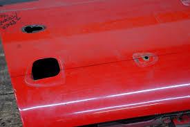 Custom car door handles Automotive Door After Removing The Original 1956 Ford Fairlane Door Handle Brent Vandervort Located The Centerline Of The Hot Rod Network 1956 Thunderbird Door Handles For Custom Cars Hot Rod Network