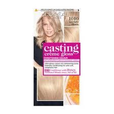 Ice Cream Hair Dye Colour Chart Casting Creme 1010 Light Iced Blonde Semi Permanent Hair Dye