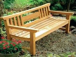 plans for making a wooden bench