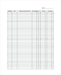 Check Register Inserts Checkbook Pages Budget Planner Half Size
