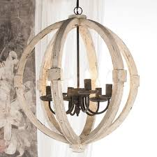 image of nice distressed wood chandelier