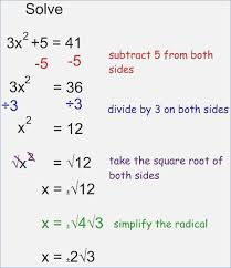 solving quadratic equations taking square roots day 1 notes 10