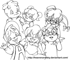 Disegno Di Alvin Superstar Chipmunks E Chipettes Da Colorare