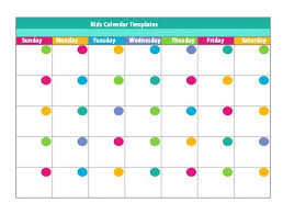 Free Templates For Kids Calendar Template Kids Kids Calendar Templates 2017 Free Monthly