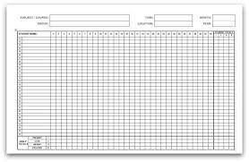 Weekly Attendance Register Template Printable Attendance Calendars In Pdf Format Attendance