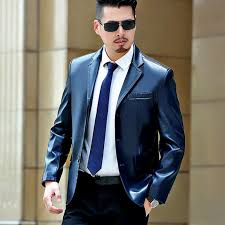 2017 new autumn fashion leather jacket men mens leather jackets and coats business casual masculina plus size m 3xl