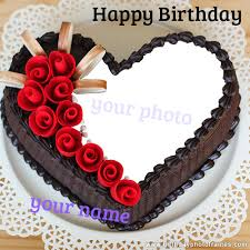 romantic and lovely birthday cake with
