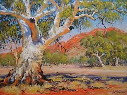curt edwards artist landscape central australia oil painting contemporary visual
