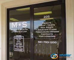 lobby signs and door graphics for law firms in royal palm beach fl