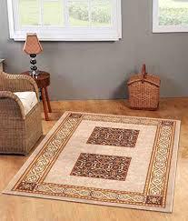 status cream printed taba rug 4x6 feet