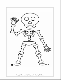Small Picture Astounding skeleton coloring pages for preschoolers with skeleton