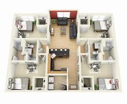 4 bedroom floor plan. Small 4 Bedroom House Plans Luxury 11 Simple Floor Impressive Designs Plan S