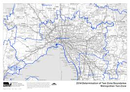 Australia government department of health: Detailed Maps Of Metro And Urban Zones Commercial Passenger Vehicles Victoria