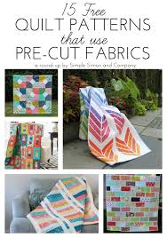 Free Quilt Patterns Unique 48 Free Quilt Patterns That Use Precuts Simple Simon And Company