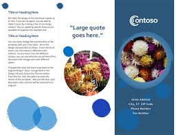 How To Make Your Own Brochure On Microsoft Word Brochures Office Com