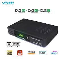 <b>Vmade DVB-T2</b>/S2 C HD TV Tuner Combo Set-Top Box Full HD ...