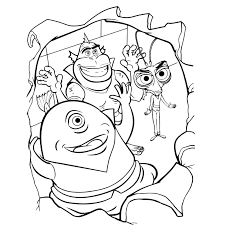 Monsters Vs Aliens Coloring Pages Books 100 Free And