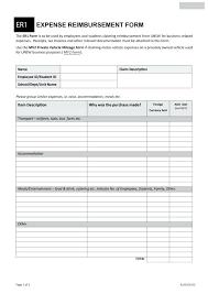 employee expense reimbursement form employee expense reimbursement template track expenses while on the