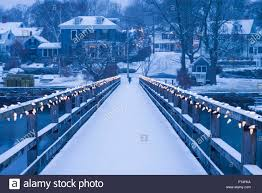 Christmas Lights New England Usa New England Cape Ann Massachusetts Annisquam