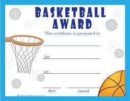Basketball Certificates Projects To Try Basketball Free