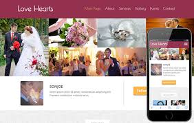 Event Planner Website Template Free Download Love Hearts A Wedding