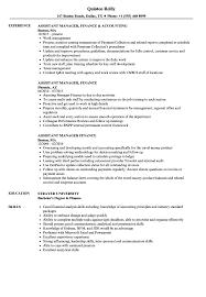 Sample Resume Assistant Manager Finance Accounts Assistant Manager Finance Resume Samples Velvet Jobs 12