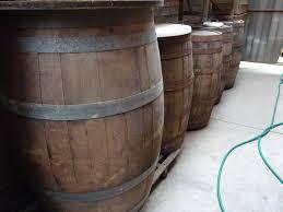 vintage large wooden bo barrells