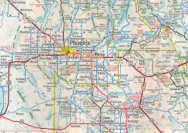 awesome map of phoenix arizona  afputracom