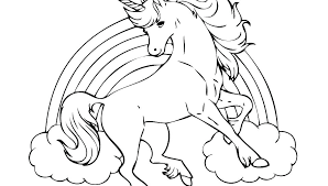 Two Unicorns Coloring Pages Fairy And Unicorn For Adults Printable