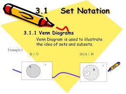 Set Notation Venn Diagram 3 1set Notation Venn Diagrams Venn Diagram Is Used To