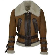 fitted sheepskin aviator flying jacket tan winnipeg