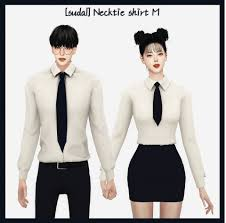 🎓Creator By : Sudal🎓 . 🎓Necktie shirt M🎓... - TheSims UpToMe Mod/CC