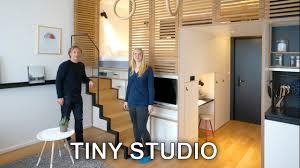 Loft Studio Apartment Tiny Studio Apartment Sleeping Loft And Moving Staircase Zoku