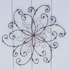 barbed wire swirl wrought iron swirl barbed wire wall decor iron wall decor