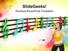 Music Powerpoint Template Colorful Notes Music Powerpoint Templates And Powerpoint