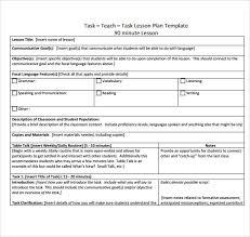 Student Teacher Lesson Plan Template 9 Teacher Lesson Plan Templates