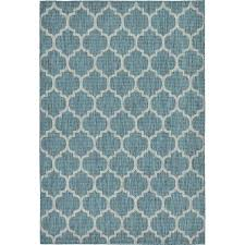 6 x 8 area rug elegant turkish indoor outdoor trellis blue polypropylene rug 6 x 8