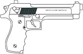 Machine Gun Kelly Coloring Pages Pdf Nerf Free Printable Pistol To