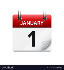 Daily Calander January 1 Flat Daily Calendar Icon Date