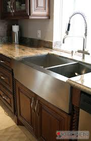 contemporary stainless steel farmhouse kitchen sink regarding huge within plan 15