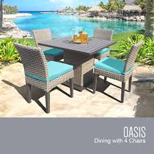 aruba oasis square dining table with 4 chairs