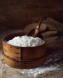 Traditional Bakery Ingredients Flour Stock Photo Dissolve