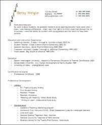 Teaching Resume Templates Cool Elementary Teacher Resume Template Great Results From Your Teacher